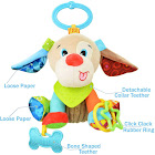 Sozzy Plush Baby Animals Multi Sensory Activity Toy for Babies and Toddlers, Puppy