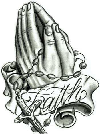 Praying Hand And Rosary Bead Tattoos Photo Download Wallpaper