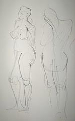 Ink Gesture Drawings - Female Model