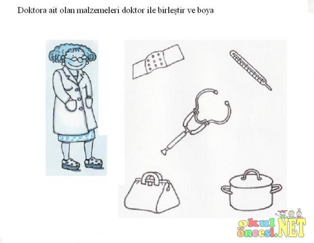 Doktor Aletleri Boyama Ust Ev Boyama Sayfasi