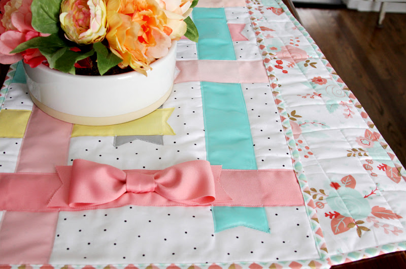 Pastel Ribbon Table Runner