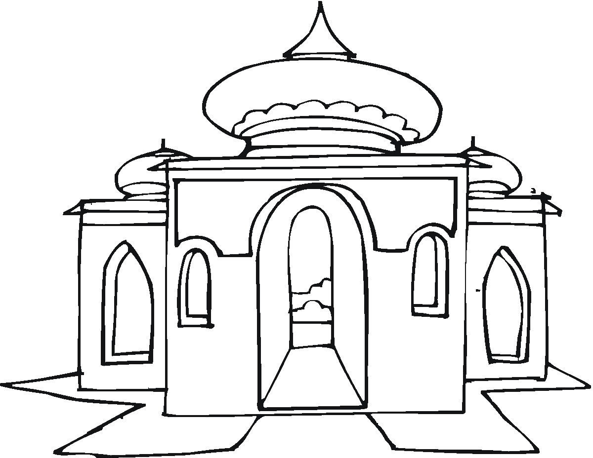 Mosque Drawing For Kids At Getdrawingscom Free For Personal Use