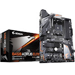 Gigabyte B450 AORUS ELITE with AMD B450 ATX Motherboard - Socket AM4