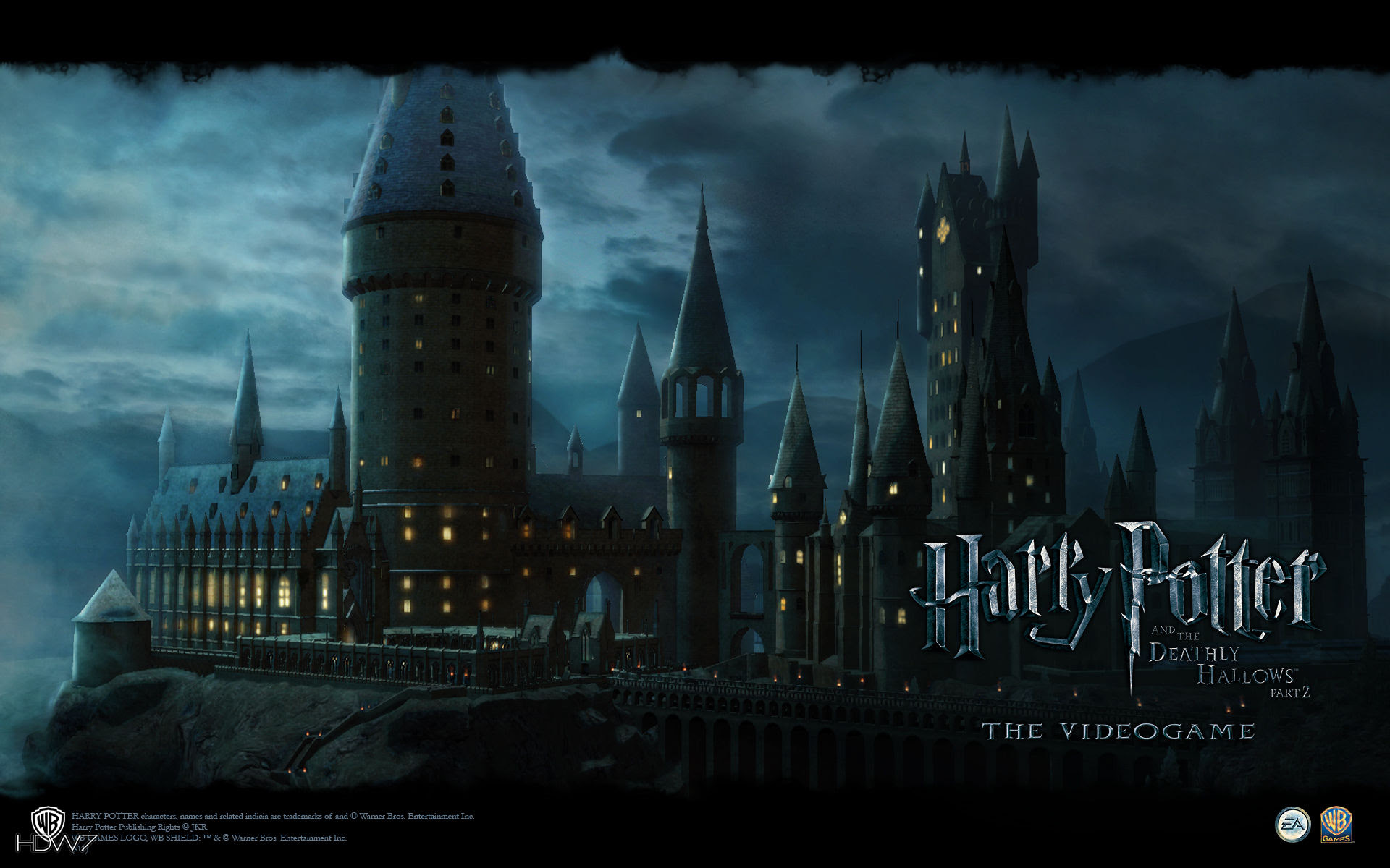 Harry Potter And The Deathly Hallows Hogwarts Widescreen Wallpaper