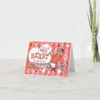 Heart Tamer Retro Valentine Card card