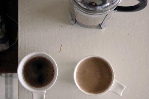 coffee, plain + pumpkin spice