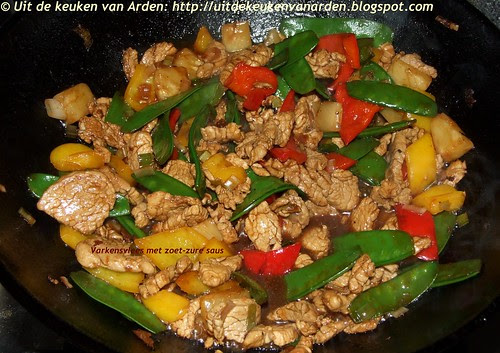 Varkensvlees met zoet-zuur saus