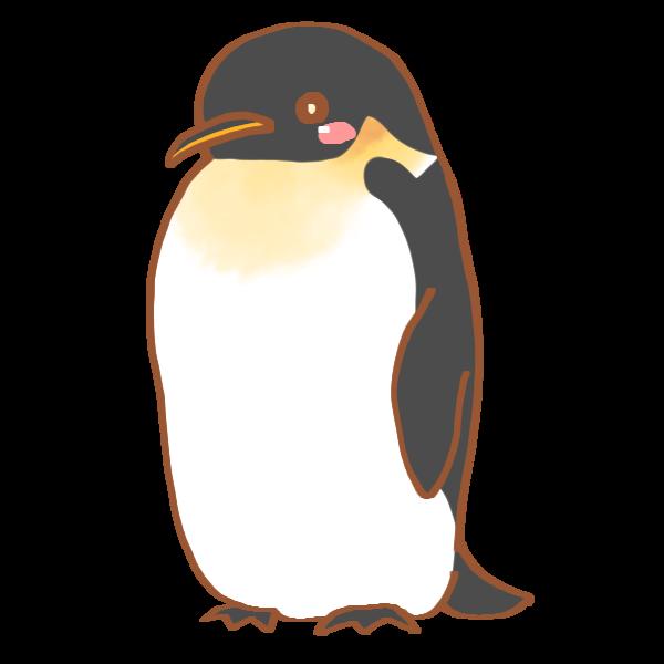 コウテイペンギンのイラスト かわいいフリー素材が無料のイラストレイン