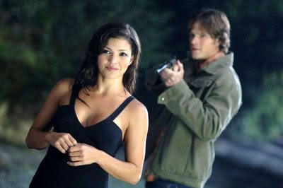 Sam confronts the Crossroads Demon in season 3 of SUPERNATURAL.