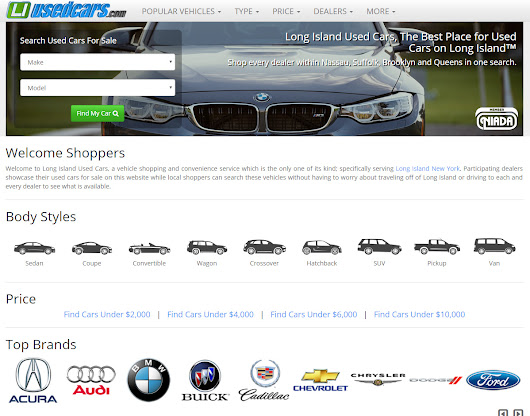 Long Island Used Cars Launches New Feature Rich, Responsive Website; Print Component for Region