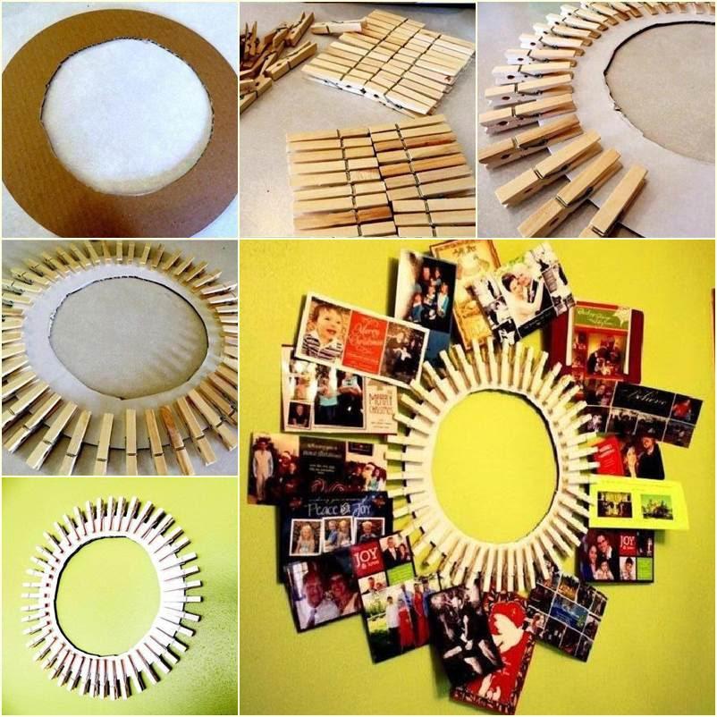 Diy Clothespin Wreath Picture Frame Good Home Diy