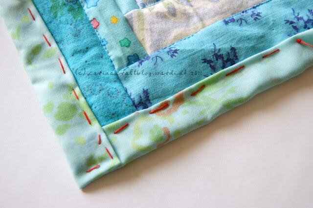 Tutorial: quilt self binding step 11