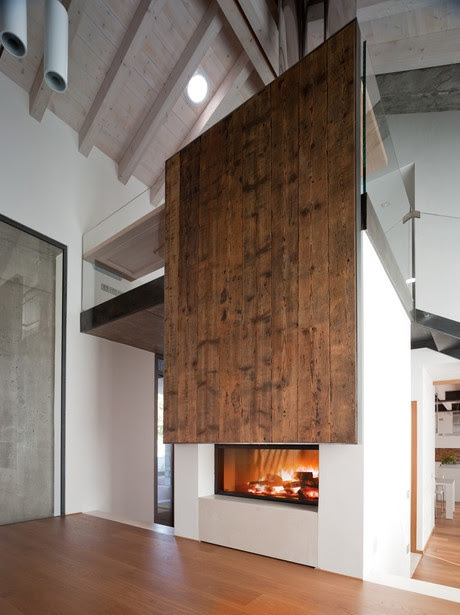 Your Fire by MCZ modern fire ~wood wall