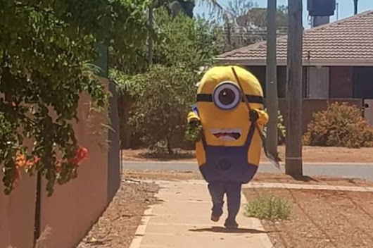 People Can't Stop Laughing At This Minion Tormenting Some Poor Dude About His Lawn
