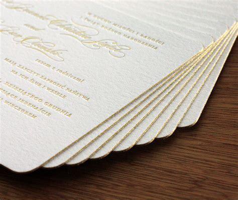 Edge Painting for Letterpress Wedding Invitations