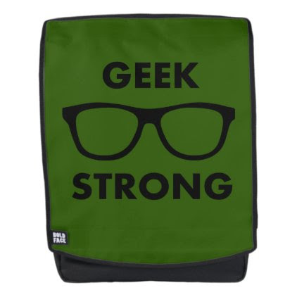 Geek Strong (Green) Backpack