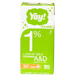 Commodity Shelf Stable Dairy 1% Milk Extended Shelf Life Aseptic, 32 Ounce (12 Pack)