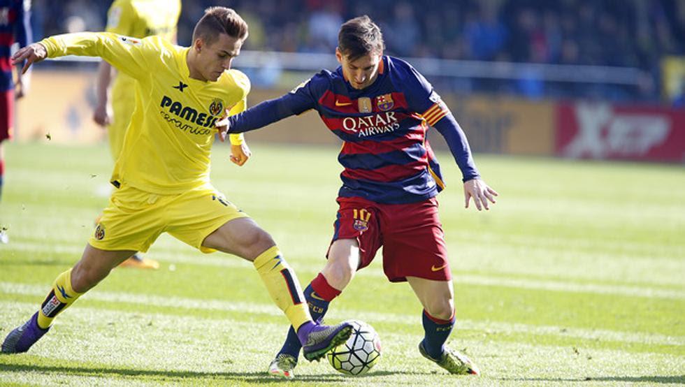 La foto de Denis Suárez, en la web del Barça, junto a Messi