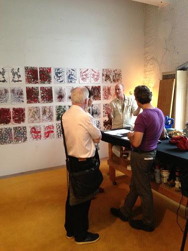 Inside a studio, JC Artists' Studio Tour