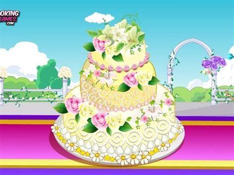 Rose Wedding Cake 2  Fun Online Cooking Decorating Games