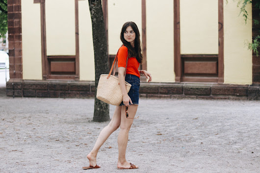 Outfit: Jeanshorts French Chic