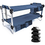 Disc-O-Bed Youth Kid-O-Bunk Benchable Bunk Double Cot w/ No Slip Pads (4 Pack) by VM Express