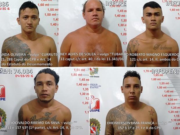 Detentos já são considerados foragidos da justiça (Foto: Divulgação/ Polícia Civil)