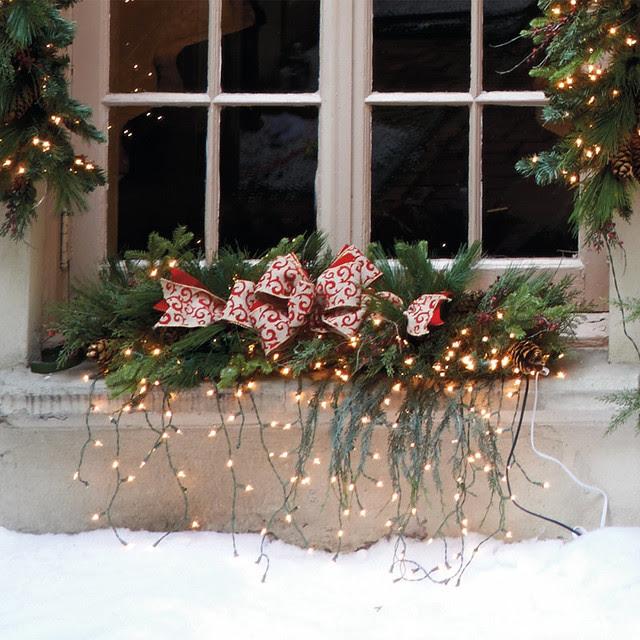 Estate Pre-lit Window Christmas Swag - Frontgate Christmas Decor