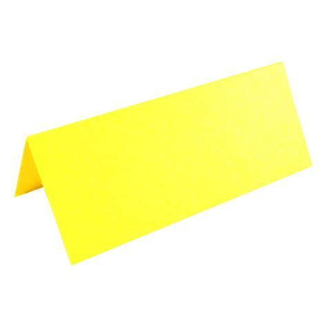 100 X Yellow Place Cards For Weddings & Parties