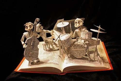 Jazz Band book sculpture