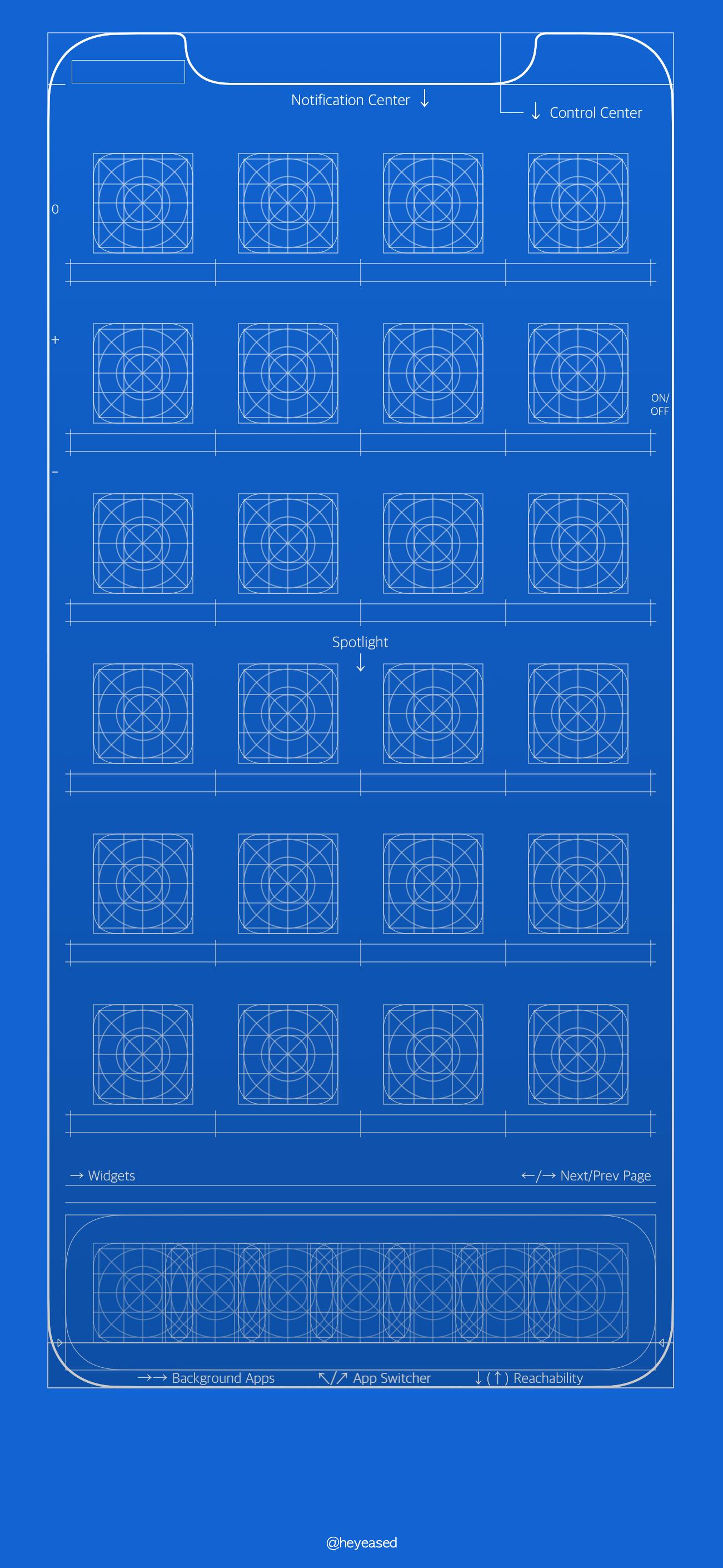 ユニークなグリッド付きの青写真風などの Iphone X Iphone 6 S 7