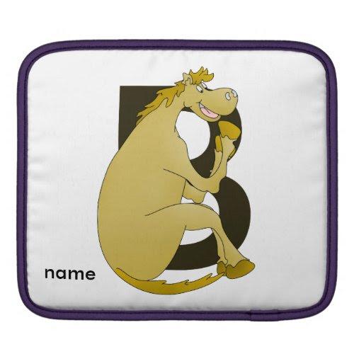 Pony Monogram Letter B iPad Sleeves
