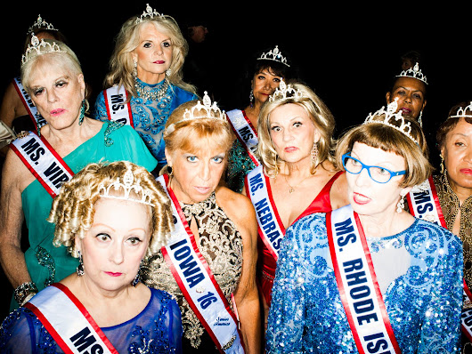 Behind the scenes at the beauty pageant for pensioners