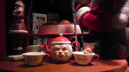 Santa cups at Le Mix