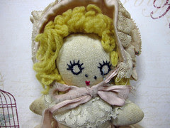 Miss Muffett, Up-Cycled Sock Doll! 7