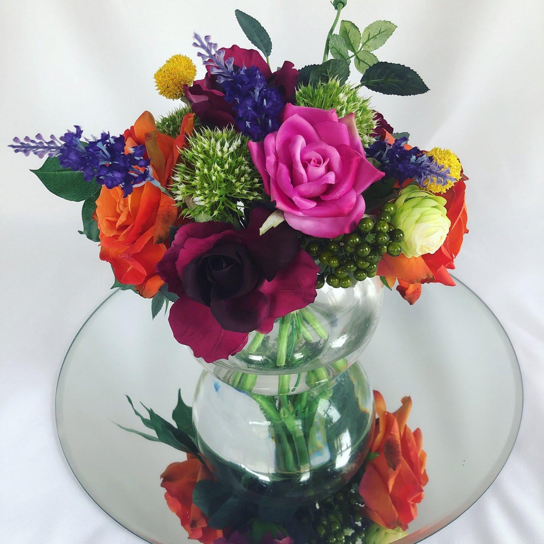 Gwyn Silk Floral In Fish Bowl Vase 25 Fairytale Events