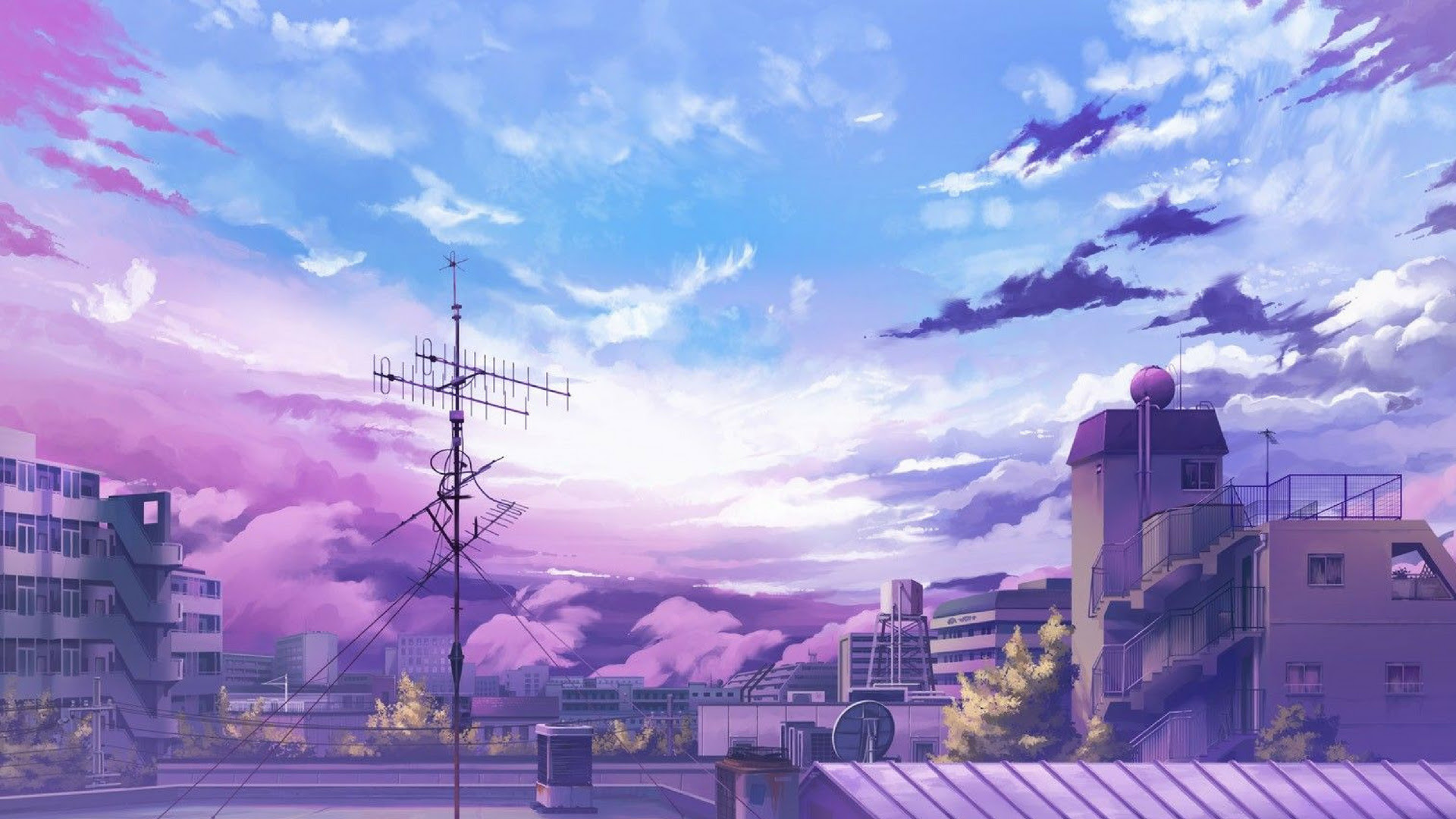 theme anime: Anime City Background Hd