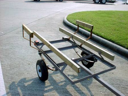 Here is a homemade trailer that was constructed mostly of angle iron