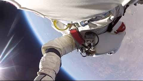 First-Person-View Of Felix Baumgartner's Space Jump