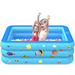 Nomeni Inflatable Swimming Pools Kids Pool Bathing Tub for Outdoor Indoor Swimming Pool