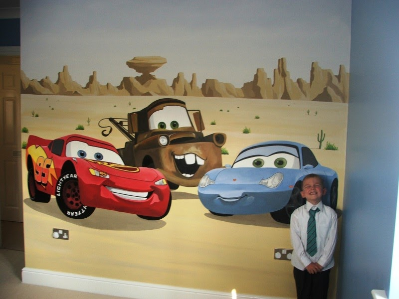 Disny world disney cars mural for Disney cars large wall mural