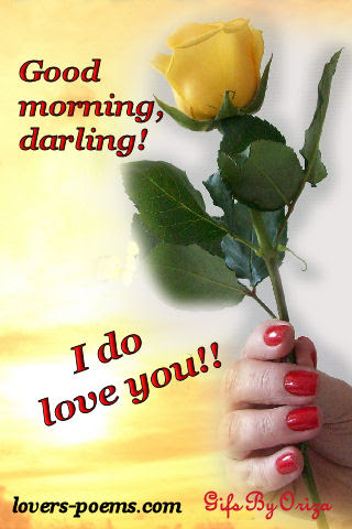 Good Morning I Do Love You Orizanet Portal Lovers Poemscom