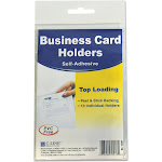 C-Line - Business card protective pocket - 2 in x 3.5 in (pack of 10)