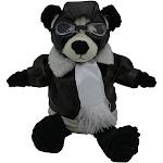 """PilotMall.com 12"""" Junior Panda Pilot Plush Corduroy Aviator"""
