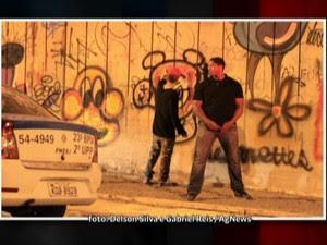 Justin Bieber pichando (GloboNews) (Foto: reprodução GloboNews)