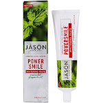 JASON Natural Products PowerSmile Fluoride Free Whitening Toothpaste Powerful Peppermint 6 oz.