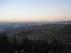 View from Ramat Rahel Jerusalem Israel