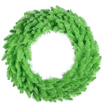 Vickerman K162737LED Lime Dural-Lit Wreath with Lime LED Lights 36 in.