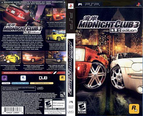 Free Download Midnight Club 3 - DUB Edition PSP Full Version