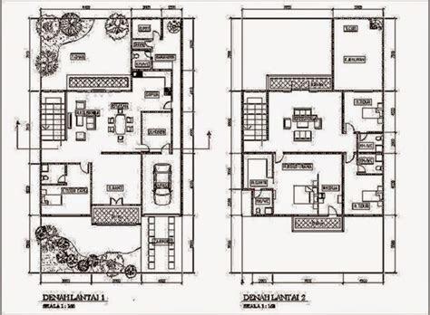 denah rumah 2 lantai - desain rumah